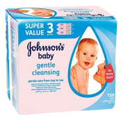 Johnson's Baby Wipes 56s 3 Pack