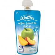 Wattie's Apple Peach and Mango Pouch 120g