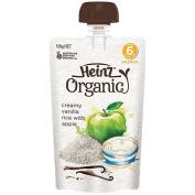 Wattie's Heinz Organic Creamy Vanilla Rice Pouch 120g