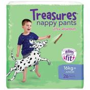 Treasures Slim Nappy Pants Junior 16kg+ 26 Pack