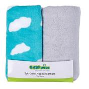 Babywise Coral Fleece Blanket Teal 2 Pack