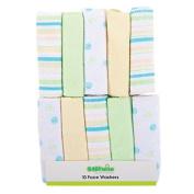 Babywise Facewasher Set Green 10 Pack