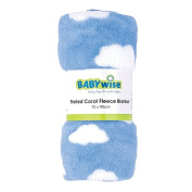 Babywise Printed Coral Fleece Blanket Blue
