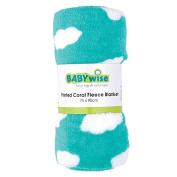 Babywise Printed Coral Fleece Blanket Teal