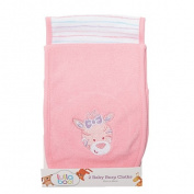 Lullaboo Baby Burp Cloths Pink 2 Pack