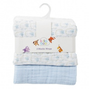 Lullaboo Muslin Wraps Blue 2 Pack