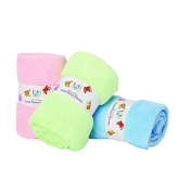 Lullaboo Plain Coral Fleece Blanket Assorted Colours