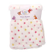 Lullaboo Spotted Coral Fleece Blanket Pink