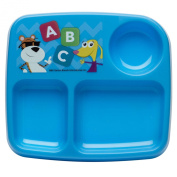 Zak! Designs Baby Genius Toddler Plate with Curious Learner ABC Graphics, No Tip, BPA Free Plastic