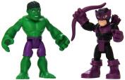 Playskool Heroes Super Hero Adventures Hulk & Marvels Hawkeye Toy