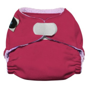 Imagine Baby Products Newborn Rayon From Bamboo All-In-One Hook and Loop Cloth Nappy, Raspberry