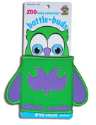KidKusion Bottle-Bud Koozie, Green Owl