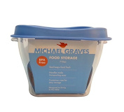 Michael Graves 3 Cup Food Storage Container, 0.71-Litre, Powder Blue