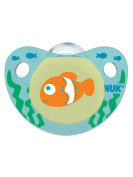 NUK Cute as a Button Sea Creatures Pacifier in Assorted Colours and Styles, 6-18 Months, 2 Count
