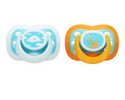 Playtex Binky 0-6M Silicone Pacifiers - 2 Count - Clouds/Goldfish