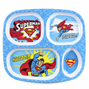Bumkins DC Comics Divided Melamine Plate, Superman