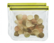 BlueAvocado (re)zip Seal Lunch Bag (Pack of 2), Moss Green