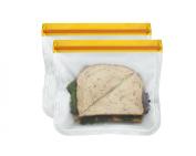 BlueAvocado (re)zip Seal Lunch Bag (Pack of 2), Orange