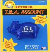 Forum Novelties Officially Retired Retirement Party IRA Account Piggy Bank Gag Gift