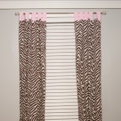 Pam Grace Creations Curtain Panels, Zara Zebra