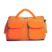 7AM Enfant Voyage Nappy Bag, Neon Orange/Beige, Large
