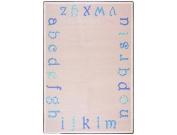 Joy Carpets Kid Essentials Infants & Toddlers Polka Dot ABC's Rug, Blue, 0.9m x 1.5m
