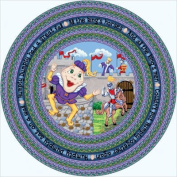 Joy Carpets Kid Essentials Infants & Toddlers Oval Humpty Dumpty Rug, Multicoloured, 0.9m x 1.5m