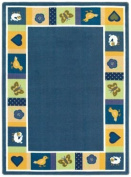Joy Carpets Kid Essentials Infants & Toddlers Oval Baby Blues Rug, Bold, 0.9m x 1.5m
