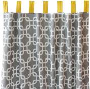 Caden Lane Curtain Panels, Grey Bright Baby