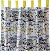 Caden Lane Boy Curtain Panels, Ikat Citrus