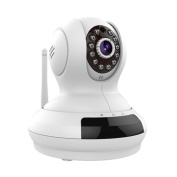 SereneLife IPCAMHD61 - 720p HD Wireless IP Cloud Camera with PTZ Pan and Tilt - Compatible with Apple/Android App and MAC/ PC Browser - Access Recordings with No Monthly Fees!