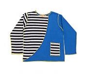 Hej Kid's Rey Sweatshirt, Blue Stripe, 4-5 months