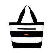 Foxy Vida Striped Weekender, Black