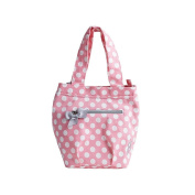 Jessie Steele Polka Insulated Lunch Tote, Rosy Pink