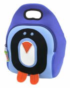 Dabbawalla Bags (Kitchen) Cold Feet Penguin Kids Washable Lunch Tote Bag, Blue/Black/Orange/White