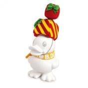B.Duck Xmas Gift White Saving Bank, 16cm