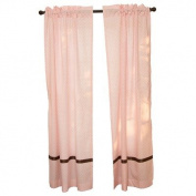 Go Mama Go Window Panels, Pink/Chocolate