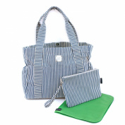 Bella Tunno Carry-All Classic Canvas Baby Bag, Navy Stripe