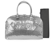 Trumpette Schleppbags Nappy Bag in Silver Sequin, Large