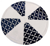Luna Lullaby Soothe-Move Tummy Time Mat, Navy Lattice, 2-12 Months