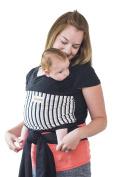 Maman Kangourou Amerigo Stretchy Wrap Baby Carrier, Black Rhino