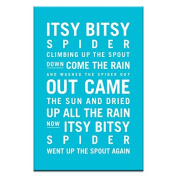 Artist Lane 40TV - P2633 Itsy Bitsy Spider Canvas Artwork by Nursery Art, 12 by 46cm by 3.8cm