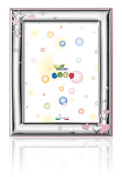 Silver Touch USA Sterling Silver Picture Frame, Hearts and Stars, Pink, 8.9cm X 13cm