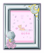 Silver Touch USA Sterling Silver Girl Picture Frame plus Booklet, Pink