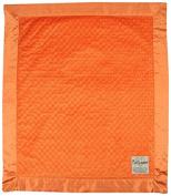 My Blankee Minky Dot Velour Orange and Flat Satin Border, Baby Blanket 80cm X 90cm