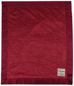 My Blankee Dot Velour Baby Blanket, Burgundy, 80cm x 90cm