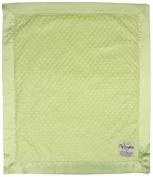 My Blankee Minky Dot Velour Apple Green and Flat Satin Border, Baby Blanket 80cm X 90cm