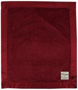 My Blankee Minky Dot Velour Grape with Flat Satin Border, Baby Blanket 80cm x 90cm