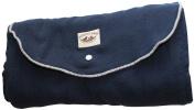 Poncho Baby Organic Blanket, Roly Blanket, Grey/Navy Blue