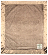 My Blankee Luxe Latte with Flat Satin Border, Baby Blanket 80cm x 90cm